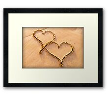 Hearts In The Sand Framed Print