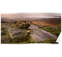 Early Morning on Higger Tor Poster