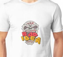 Skull War Bad Idea Cartoon Unisex T-Shirt