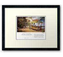"""""""Denpasar"""" in words & image (M.Konecka) Framed Print"""