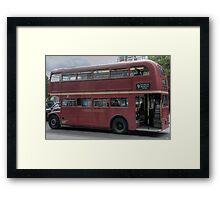 Old Red Bus Framed Print