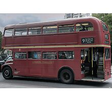 Old Red Bus Photographic Print