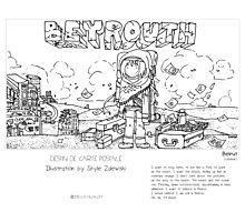 """Beirut"" in words & image (S.Zalewski) Photographic Print"