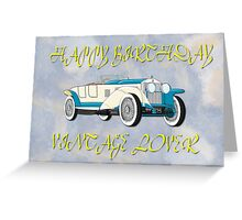 Happy Birthday - Vintage Lover Greeting Card