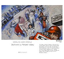 """""""Brooklyn"""" in words & image (F.Vuillamy) Photographic Print"""