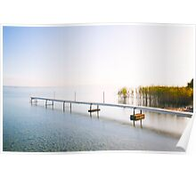 Jetty at Lake Neuchatel Switzerland Poster