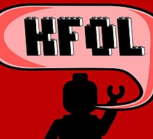 Happy Birthday KFOL Greeting Card in Brick Font by Chillee Wilson from Customize My Minifig by ChilleeW