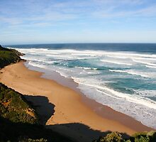 Great Ocean Road Beach- Australia by Nicola Barnard