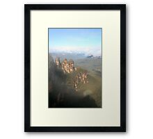 The Three Sisters, Blue Mountains - Australia Framed Print