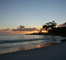 Binalong Bay Sunrise, Tasmania - Australia by Nicola Barnard