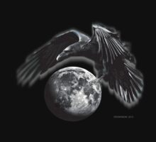 FULL MOON CROW by arteology