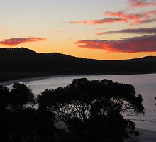 Binalong Bay Sunset, Tasmania - Australia by Nicola Barnard