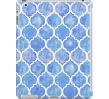 Cornflower Blue Moroccan Watercolor Pattern iPad Case/Skin