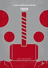 No232 My THOR minimal movie poster by Chungkong