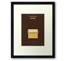 No233 My Seven minimal movie poster Framed Print