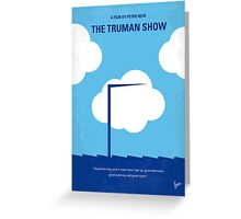 No234 My Truman show minimal movie poster Greeting Card