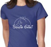Studio Ghibli Blue - Disney Style Womens Fitted T-Shirt