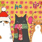 Cozy Christmas cats by Bethan Matthews