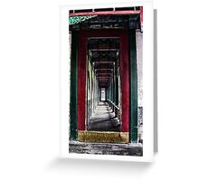 Grungy Corridor Greeting Card