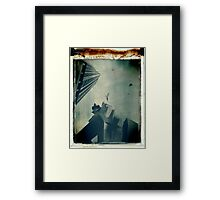 the shapes between us turn into animals Framed Print
