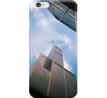 The helicopter the ledge and the sky iPhone Case/Skin