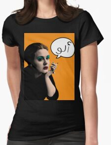 Hello- Arabic Womens Fitted T-Shirt
