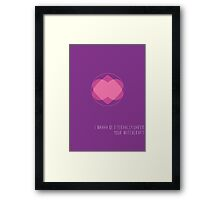 Romantic Halloween Witchcraft Framed Print