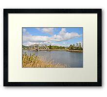 Bridge in Washington State Framed Print