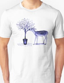 Fawn and Tree (Blue) T-Shirt