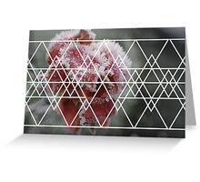 Rosey Triangle Greeting Card