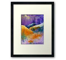 Purple Hills Framed Print