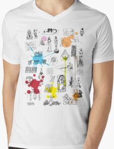 History of Art (w/ paint splashes) Mens V-Neck T-Shirt