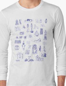 History of Art (blue artlines) Long Sleeve T-Shirt