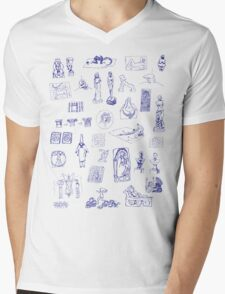 History of Art (blue artlines) Mens V-Neck T-Shirt