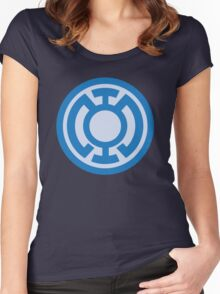 Blue Lantern Corps insignia Women's Fitted Scoop T-Shirt