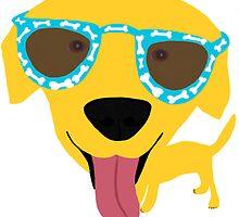 Happy Labrador by Verene Krydsby