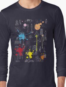 History of Art (dark tee, w/ paint splashes) Long Sleeve T-Shirt