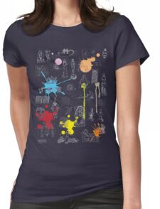 History of Art (dark tee, w/ paint splashes) Womens Fitted T-Shirt