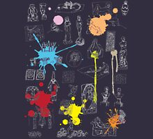 History of Art (dark tee, w/ paint splashes) Unisex T-Shirt