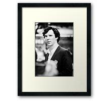 Cumberbatch B&W Framed Print