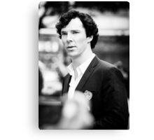 Cumberbatch B&W Canvas Print