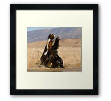 Water Fight Framed Print
