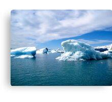 Jokulsarlon Lagoon Icebergs - Iceland Canvas Print