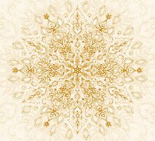 Sepia Snowflake Doodle by micklyn