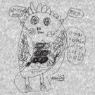 Weird Owl - BW by MWMcCullough