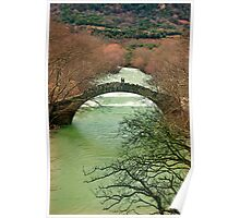 Old stone bridge for two Poster