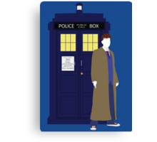 Ten and the TARDIS Canvas Print