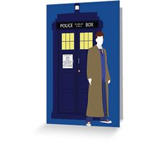 Ten and the TARDIS Greeting Card