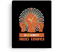 SOVIET RED ARMY 3 FISTS Canvas Print