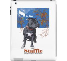 S is for Staffie iPad Case/Skin